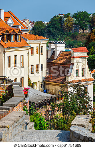 Historic center of the old town in Lublin, Poland. - csp61751689