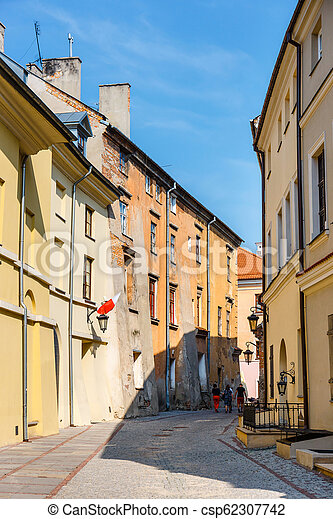 Historic center of the old town in Lublin, Poland. - csp62307742