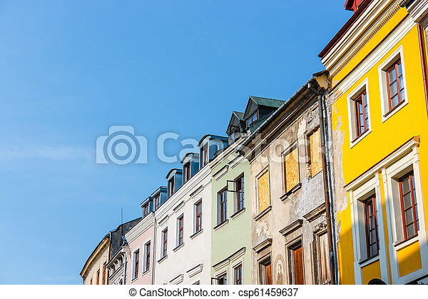 Historic center of the old town in Lublin, Poland. - csp61459637