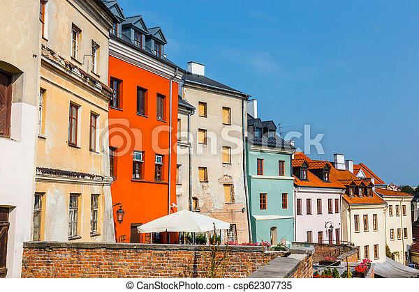 Historic center of the old town in Lublin, Poland. - csp62307735