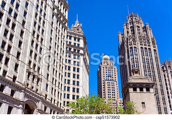 Historic Chicago Skyscrapers - csp51573902