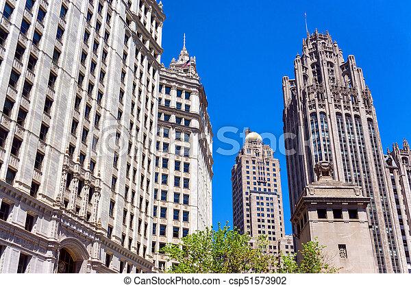 Historic Chicago Skyscrapers - csp51573902