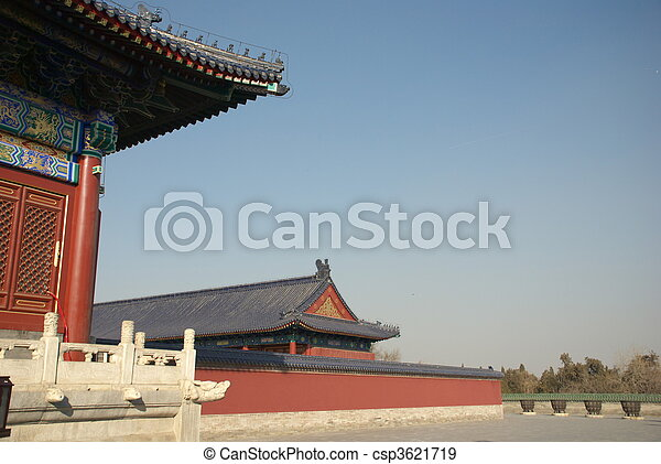 historic Chinese building - csp3621719