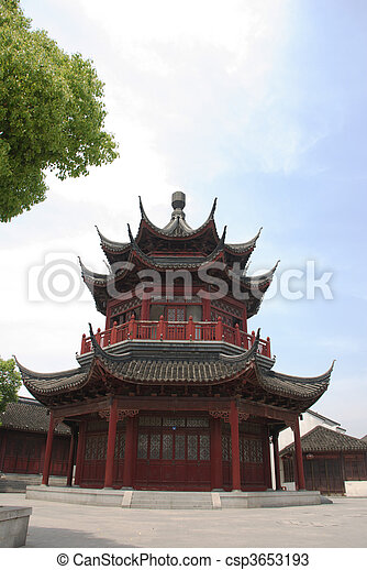 historic Chinese building - csp3653193
