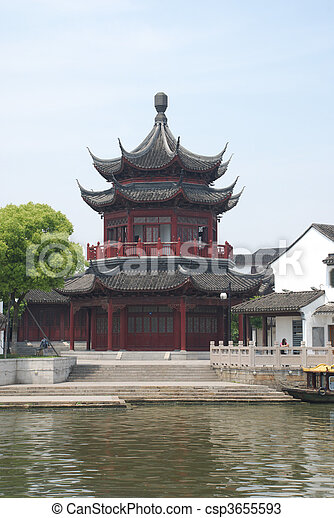 historic Chinese building - csp3655593
