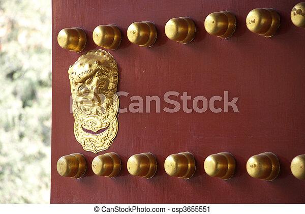 historic Chinese door - csp3655551