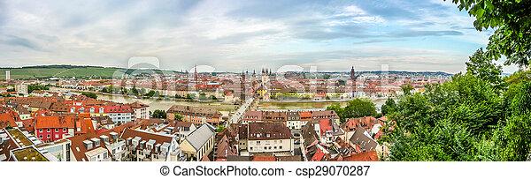 Historic city of Wurzburg, Franconia, Bavaria, Germany - csp29070287