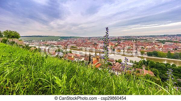 Historic city of Wurzburg, Franconia, Bavaria, Germany - csp29860454