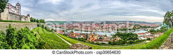 Historic city of Wurzburg, Franconia, Bavaria, Germany - csp30654630