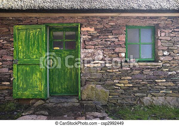 Historic Cottage Door and Window - csp2992449