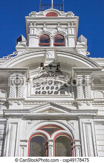 Historic courthouse at main street Bridgeport - csp49178475