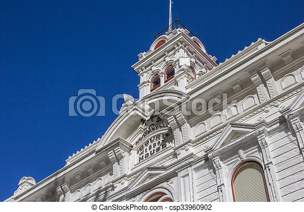 Historic courthouse at main street Bridgeport - csp33960902
