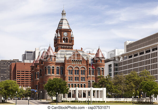 Historic Courthouse in Dallas, USA - csp37531071