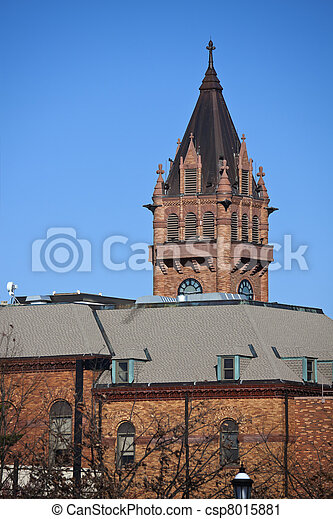 Historic courthouse in Urbana - csp8015881
