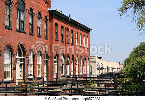Historic district in Savannah - csp8572003