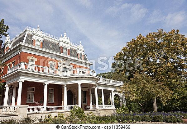 Historic Ellwood House in Dekalb - csp11359469