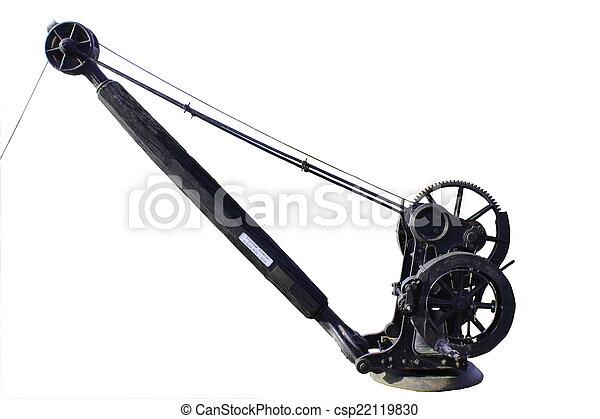 Historic english hand crane - csp22119830