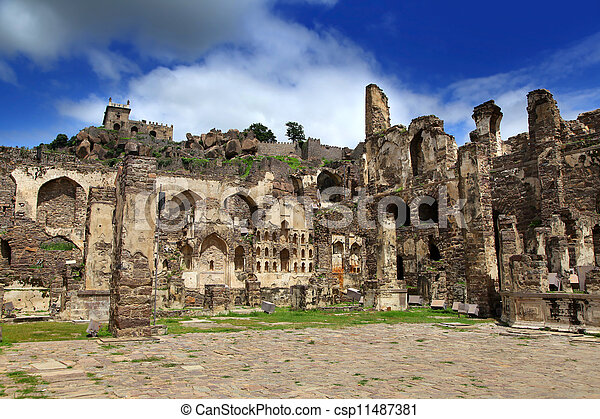 Historic Golkonda fort - csp11487381