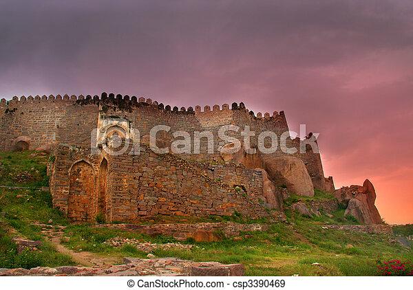 Historic Golkonda - csp3390469