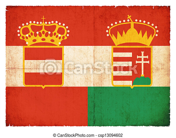 Historic grunge flag of the Austro-Hungarian Monarchy - csp13094602