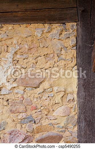 Historic Half-Timbered Wall Detail - csp5490255