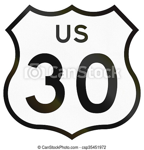Historic Highway Route shield from 1961 used in the US - csp35451972