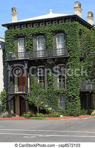 Historic home in Savannah - csp8572103
