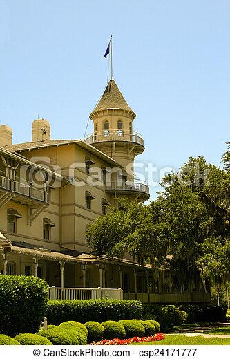Historic hotel, Jeykll Island - csp24171777