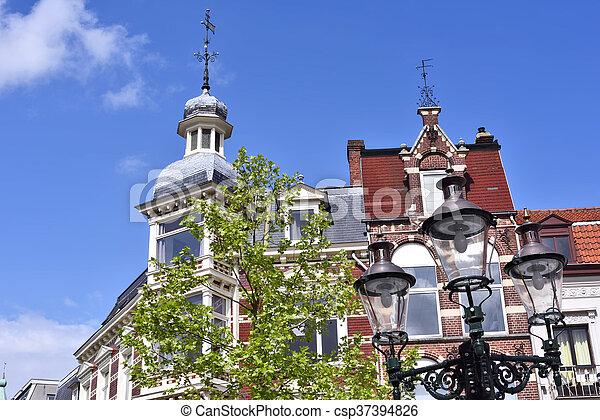 Historic house facade - csp37394826