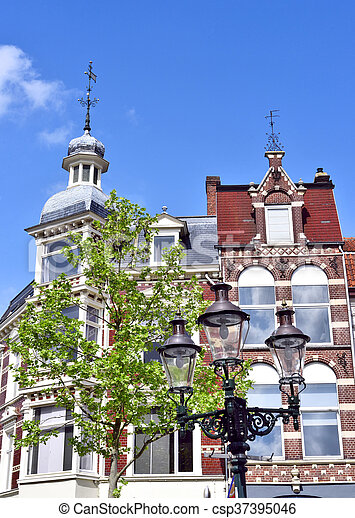 Historic house facade - csp37395046