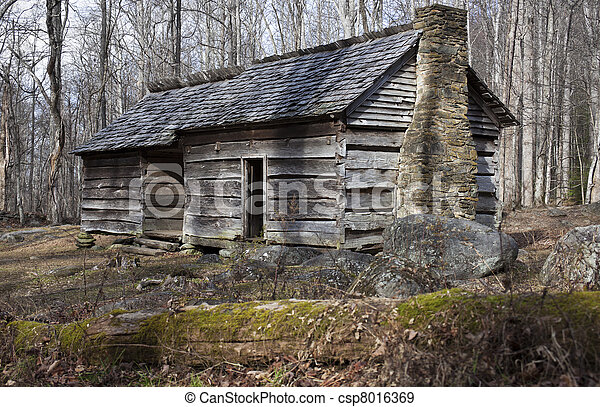 Historic house in Smoky Mountains - csp8016369