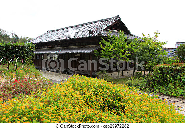 Historic Japanese home - csp23972282