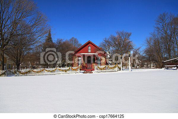 Historic Mill race village - csp17664125