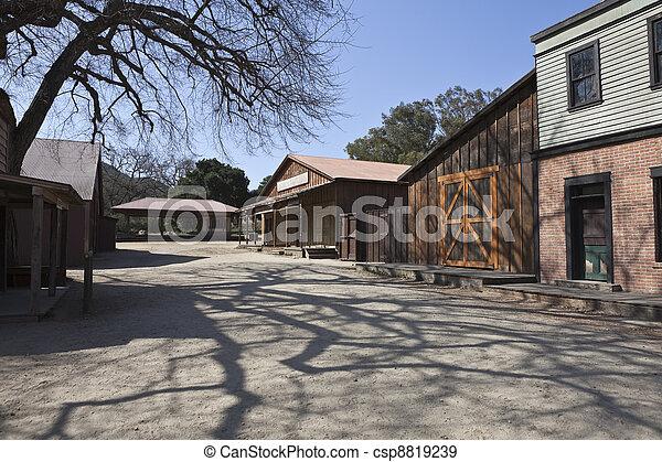 Historic Movie Western Town  - csp8819239