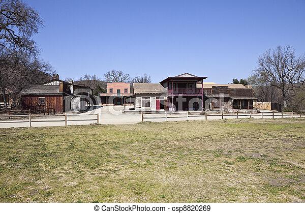 Historic Movie Western Town - csp8820269