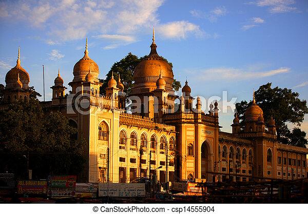 historic Nizamia hospital in India - csp14555904