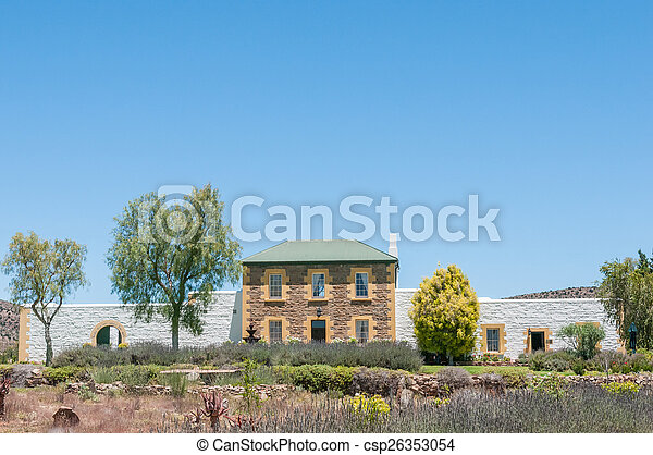 Historic old jail in Willowmore, South Africa - csp26353054
