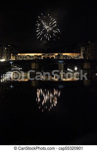 historic Ponte Vecchio bridge in Florence - csp55320901