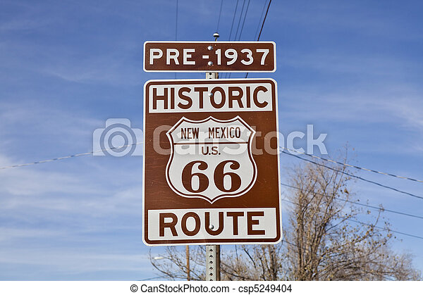 Historic Route 66 New Mexico - csp5249404