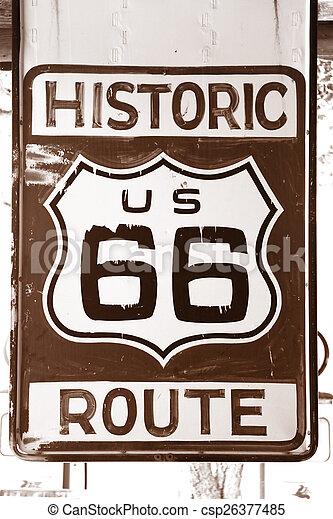Historic Route 66 - csp26377485