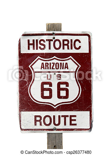 Historic Route 66 sign - csp26377480