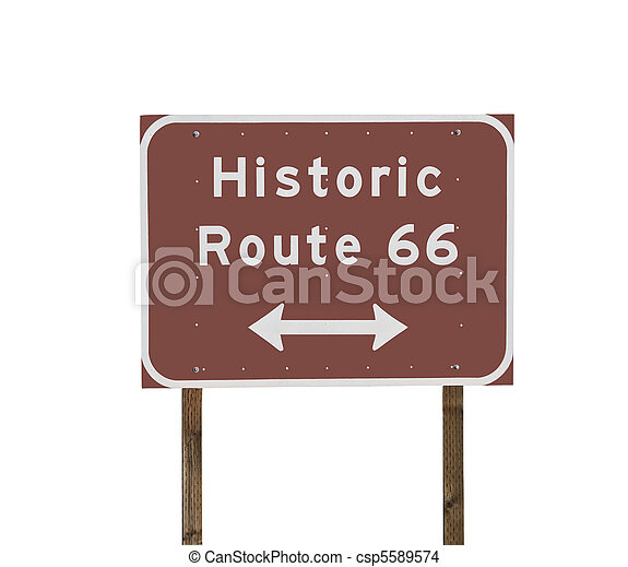 Historic Route 66 Sign - csp5589574