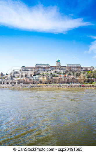 historic Royal Palace in Budapest, Hungary - csp20491665