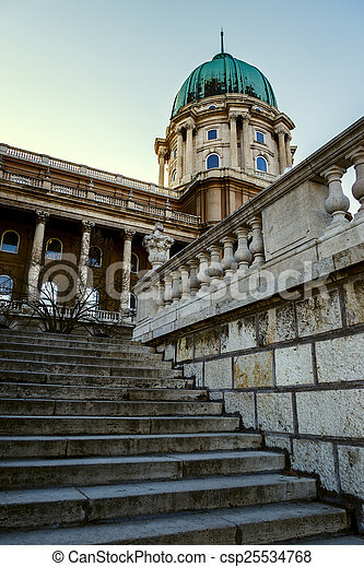 Historic Royal Palace in Budapest, Hungary - csp25534768