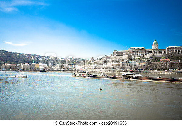 historic Royal Palace in Budapest, Hungary - csp20491656