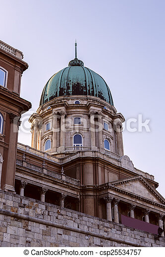 Historic Royal Palace in Budapest, Hungary - csp25534757