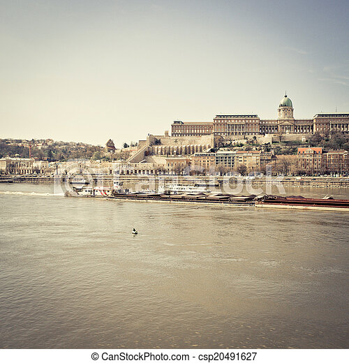 historic Royal Palace in Budapest, Hungary - csp20491627
