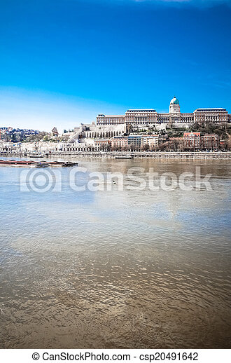 historic Royal Palace in Budapest, Hungary - csp20491642