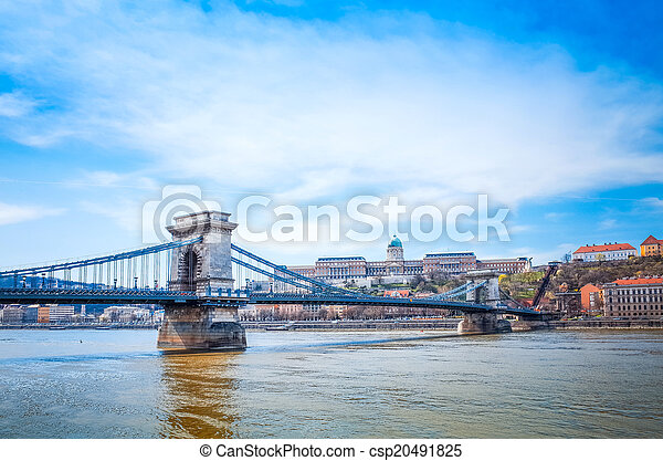 historic Royal Palace in Budapest, Hungary - csp20491825