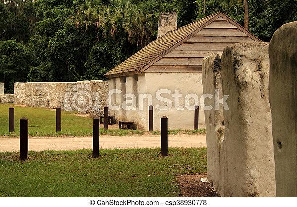 Historic Slave Cabins - csp38930778